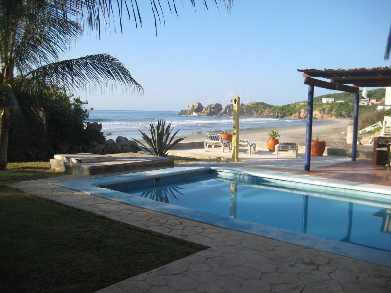 Beach view from pool - Casa de la Roca - Huatulco, Mexican Riviera - Huatulco - rentals
