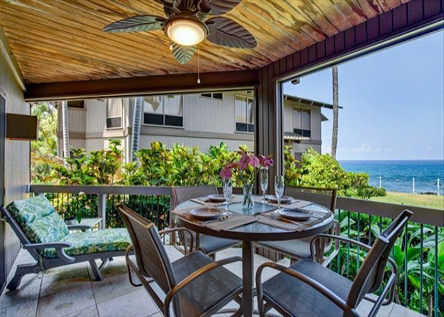 Ocean Front Lanai - Slice of Heaven, home away from home! Sunsets included... Kanaloa 2101 - Kailua-Kona - rentals