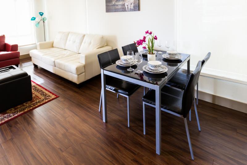 Dining set with elegant utensils - Heaven on Hollywood Vine Street 2BR Apartment - Los Angeles - rentals