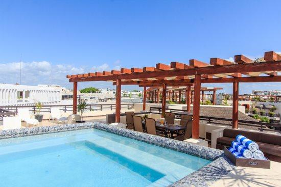 Vacation rentals in Playa del Carmen - Rooftop pergola - Aldea Thai PH Mamitas - Aldea Thai PH Mamitas - Playa del Carmen - rentals