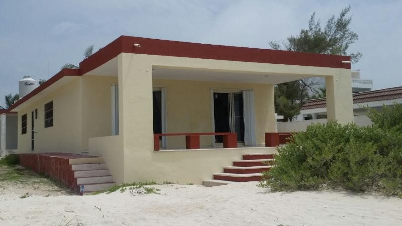 The Front of the House - RELAXING BEACH FRONT HOUSE FOR RENT WITH ALL YOUR - Progreso - rentals