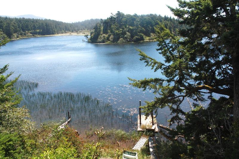 View from the front deck. - Floras Lake, Oregon Retreat - Langlois - rentals