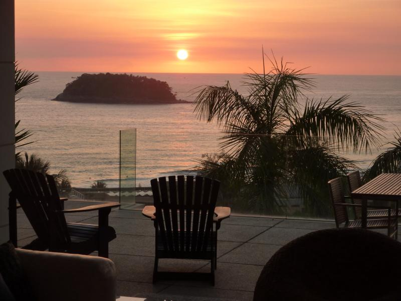Sunset View From Terrace - 2 Bedroom Kata Beach Stunning Ocean View - Kata - rentals