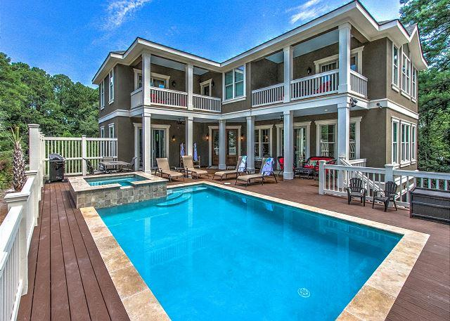 Exterior - 7 Barrier Beach Cove - Brand NEW Custom Home - 5 mins walk to the beach. - Hilton Head - rentals