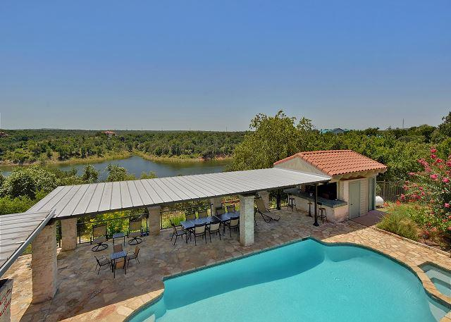 Swimming Pool and Water Views - 7BR/6BA Beautiful Ranch Home With Lakefront Views - Briarcliff - rentals