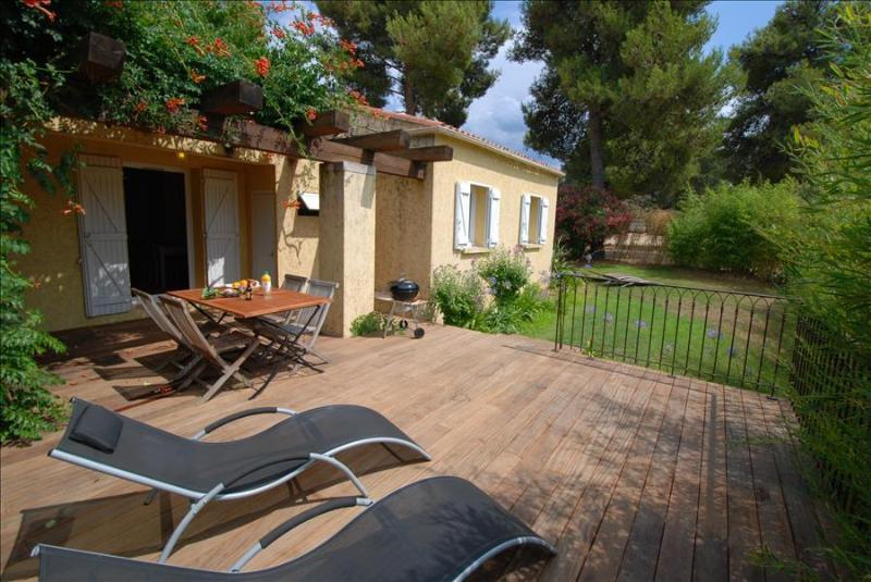 """très belle Mini-villa """"bambou"""" sans vis à vis : grande terrasse et jardin - Image 1 - Calvi - rentals"""