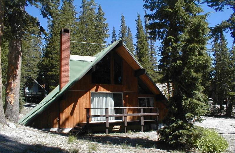 Chalet 7 in summer nestled in the woods on actual forest service land - Bike/ Hike in Summer at Ski In Ski out Chalet #7 - Mammoth Lakes - rentals