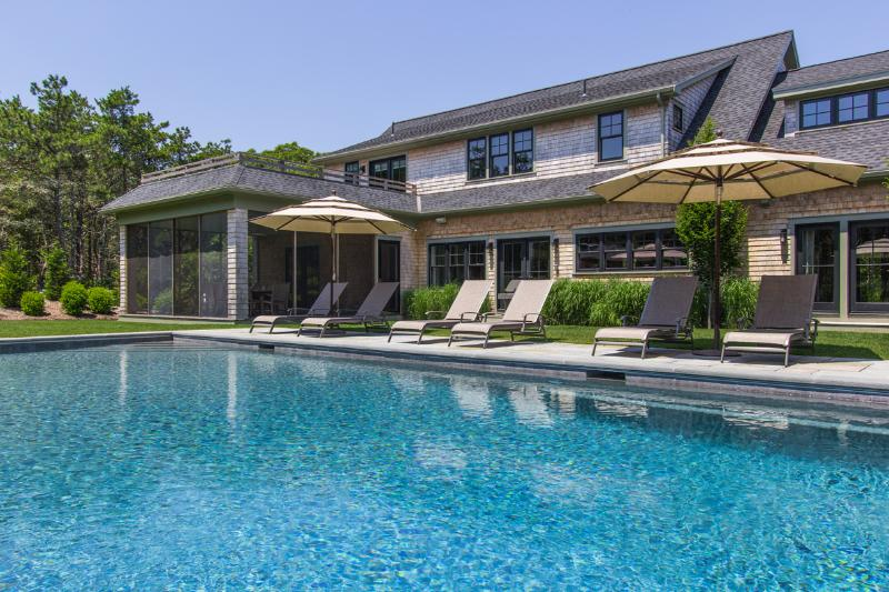 Pool and Patio area - DICKT - Luxurious Katama Retreat, Ferry Tickets, Heated Pool, Cabana with - Edgartown - rentals