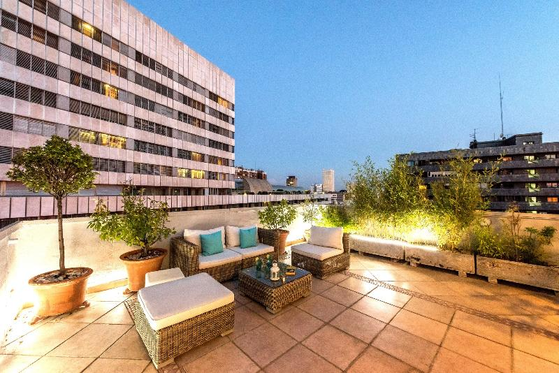 Terrace at afternoon - Penthouse Cuzco-Castellana Smart - Madrid - rentals