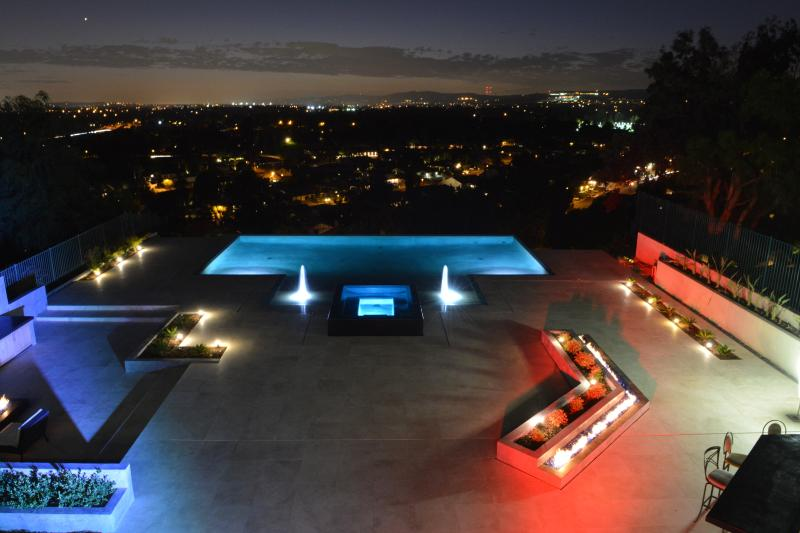 Back Yard at Night - Multi-Million Dollar Dream Villa - Anaheim - rentals