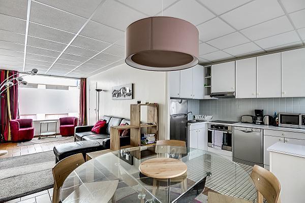 Lower Level - Kitchen - Notre Dame Vacation Rental at Bievre - Paris - rentals
