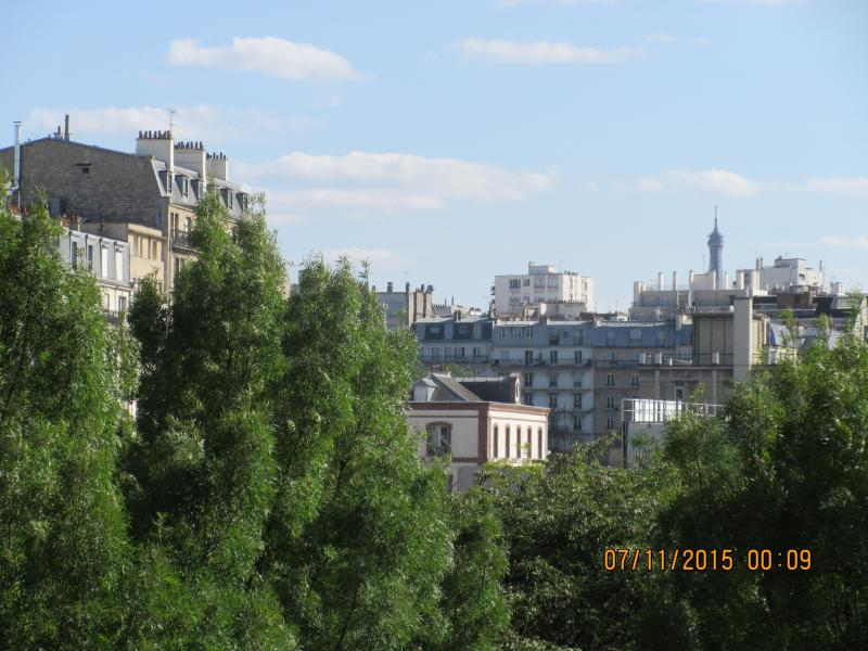 View of Eiffel Tower from Balcony of Apartment - B Parisian! Elegant New Studio + Eiffel Tower View - Paris - rentals