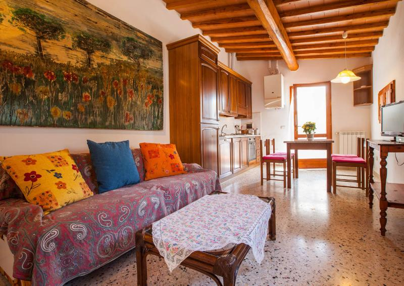Living room and kitchen - A suite in the sun of the green hills of the Chianti area - Greve in Chianti - rentals