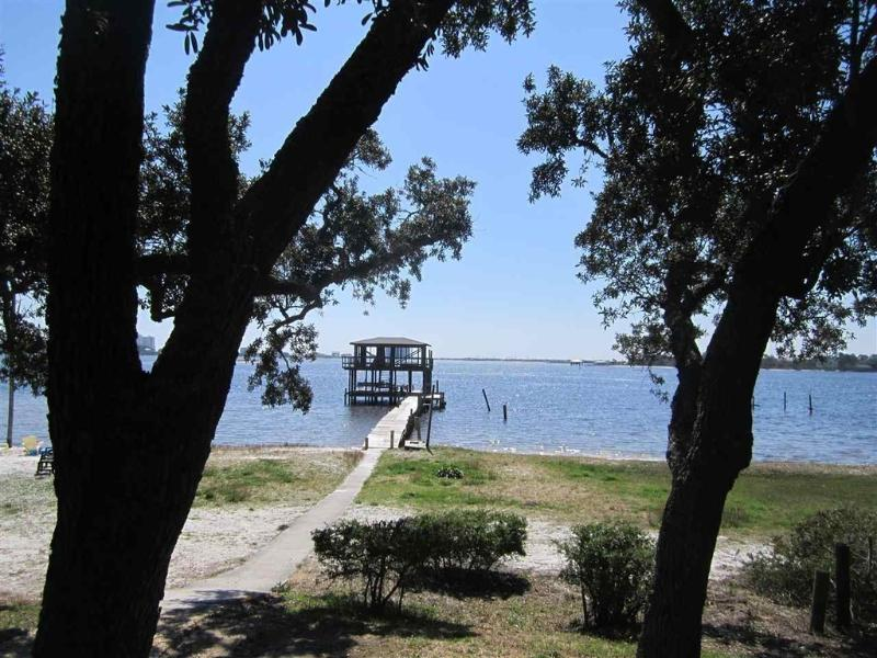 Private pier, steps away from the front door - Beach Cottage at RoLo Landing on Innerarity Point - Pensacola - rentals