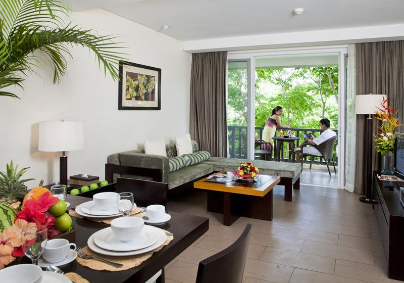 Balcony, Living and Dining Rooms - Boracay Beach 1-BR Condo - Caticlan - rentals
