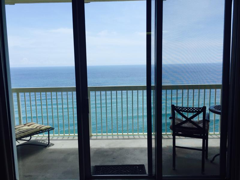 look out from living room - Celadon* BEACH*FRONT* GULF VIEW* ON BEACH UNIT* - Panama City Beach - rentals