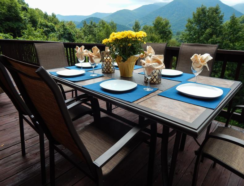 Views From the Back Deck - New Listing Majestic Views Close to Skiing - Maggie Valley - rentals