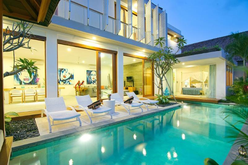 View at Night - NEW!! 4BR VILLA AZURE - PURE LUXURY IN SEMINYAK - Seminyak - rentals