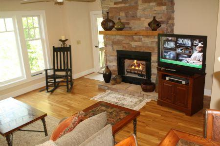 Cozy Living Room with Gas Log Fireplace  - Timbers J-2 - Boone - rentals