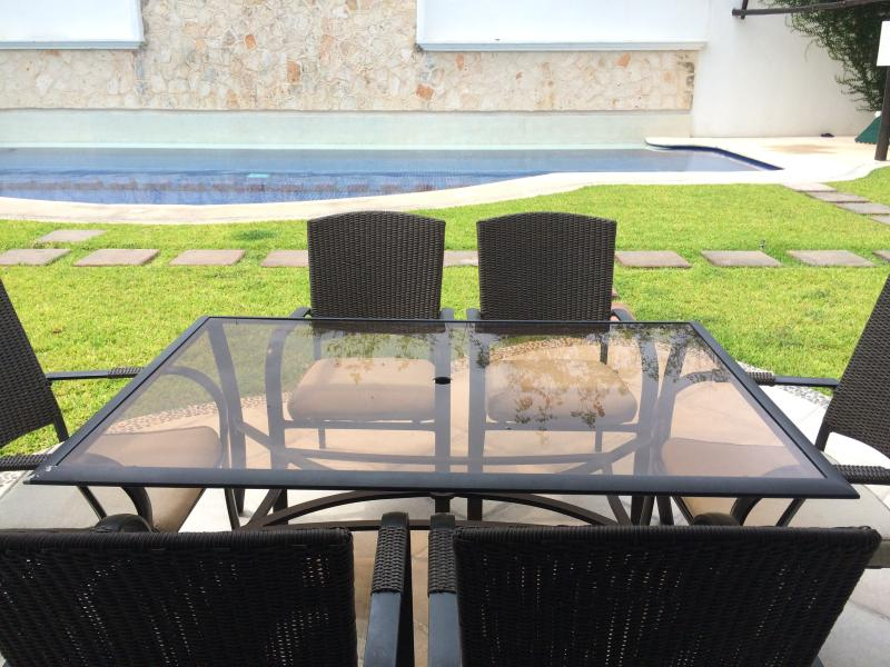 The terrace face the pool, perfect for kids!!! - Beautiful 3 bdrm villa, into the Club the Golf F4 - Playa del Carmen - rentals