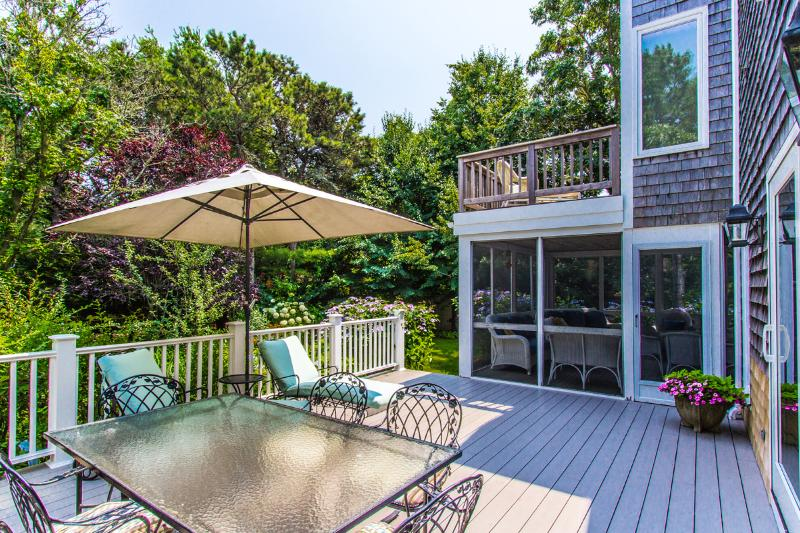 MAHAJ - Charming Village Area Summer Home, 5 min walk to Main St, Private Landscaped Yard, Large Deck and Screened Porch, Central AC - Image 1 - Edgartown - rentals
