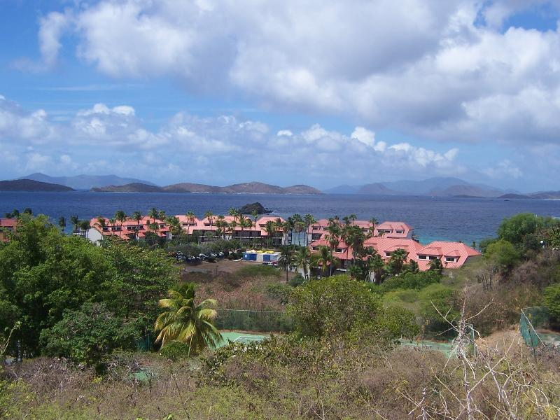 Resort from the top of the hill at the entrance - Beachfront Villa with a Down Island View-Priceless - Saint Thomas - rentals
