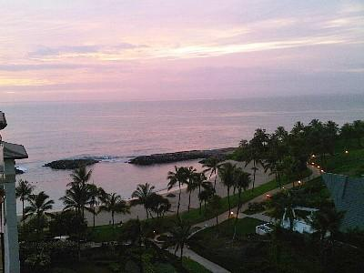 Paths connect the four lagoons- great for a romantic evening walk to watch the sunset - Beach Tower 2 bdrm Ko Olina Resort Beach Villa - Kapolei - rentals
