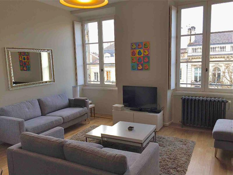 Living room - Prestige furnished T3 in front of the JardinPublic - Bordeaux - rentals