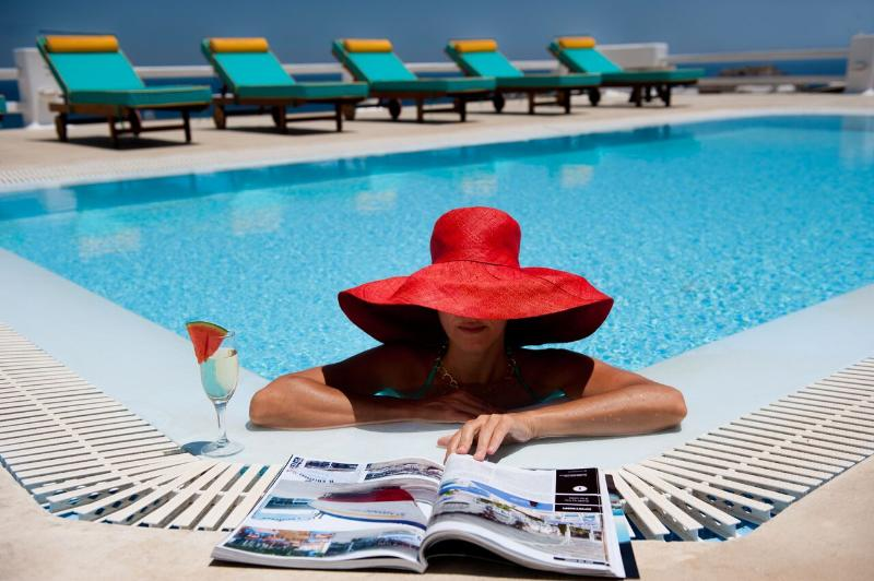 Gv Mykonos -  Sunshine Villa with  pool & marvelous seaviews  sleeps 10 - Image 1 - Mykonos - rentals