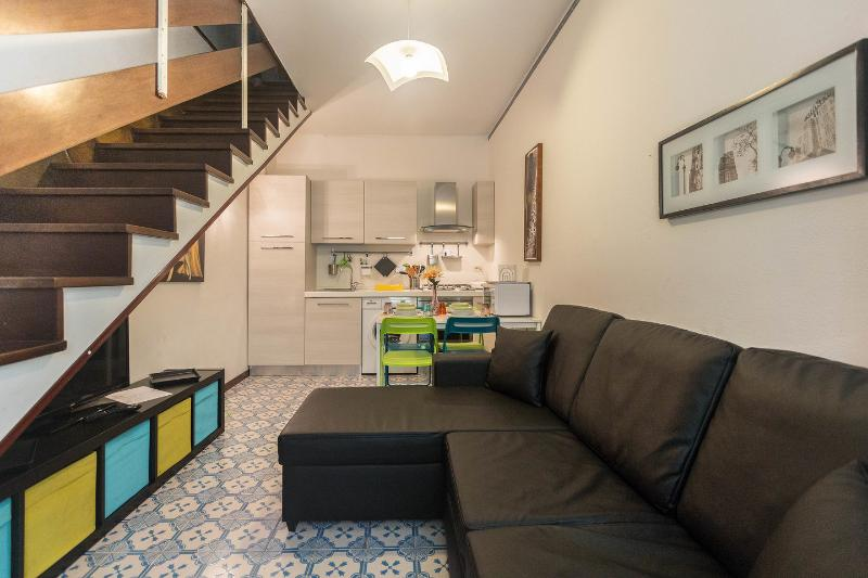 The Living Room - One-bedroom Apartment (maximum 4 people) - Rome - rentals