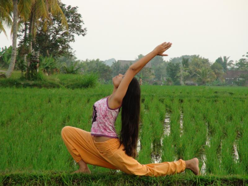 Yoga in nature's bliss and serenity of the Pray Love Rice Fields - Anita's Eat Pray Love Rice Field Cottage Ubud Bali - Ubud - rentals