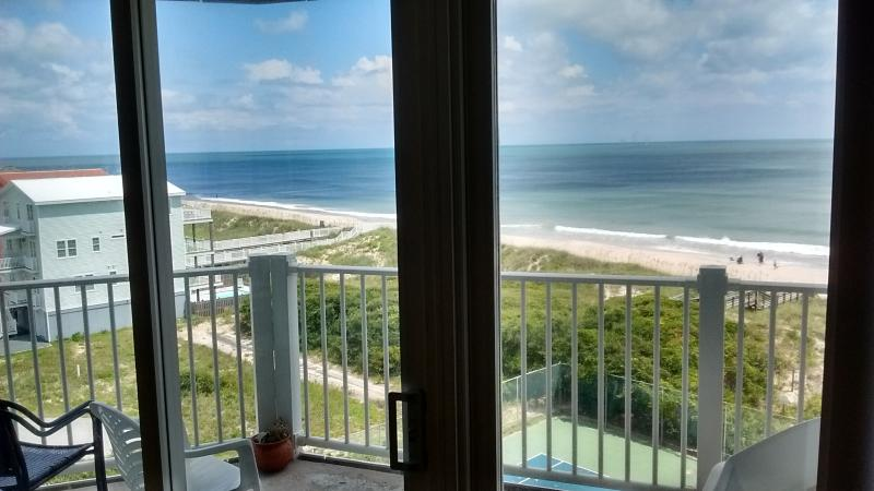 living room view - St. Regis  oceanfront condo at Topsail Island, NC - North Topsail Beach - rentals