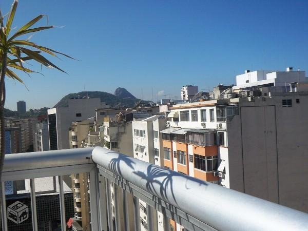 View of the world-famous Sugar Loaf mountain from the terrace - Copacabana Beach Penthouse - Rio de Janeiro - rentals
