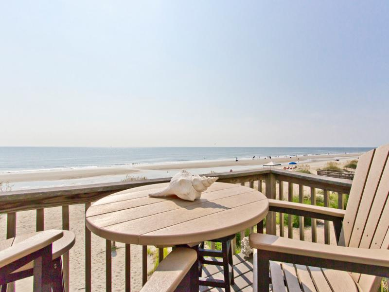 What a view!  Watch the dolphins swim by from your deck. - My Sunshine,Oceanfront, 9P,condo,best views,PetsOK - Tybee Island - rentals