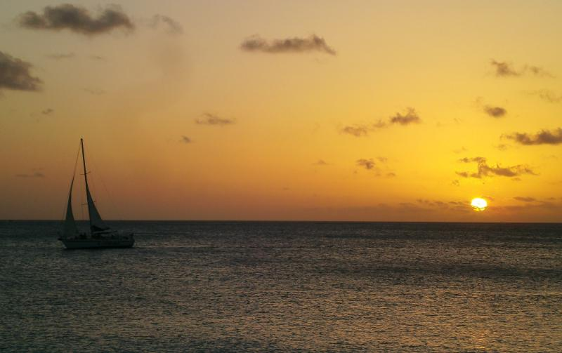 Your evening view from our back garden - Oceanfront Condo at Sand Dollar Bonaire (Condo B7) - Kralendijk - rentals
