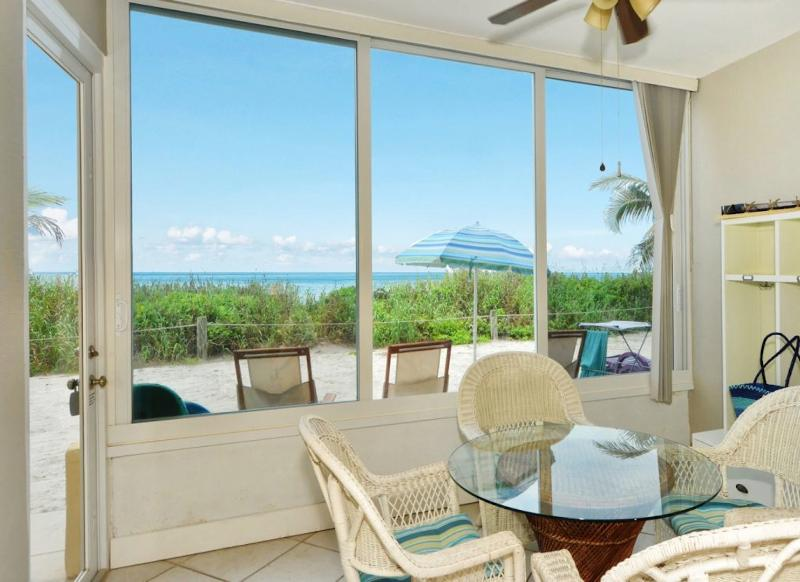View from the lanai - Beachfront Ground level Suite - Just Remodeled - - Siesta Key - rentals
