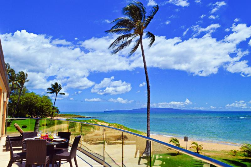 View South to the Pacific Ocean from Villa 1 - BEACHFRONT LUXURY ALOHA VILLA #1, CHILDREN WELCOME - Kihei - rentals
