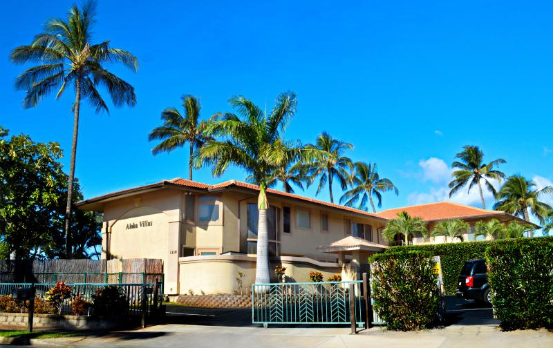 View of the Property from street - BEACHFRONT LUXURY ALOHA VILLA #3, CHILDREN WELCOME - Kihei - rentals