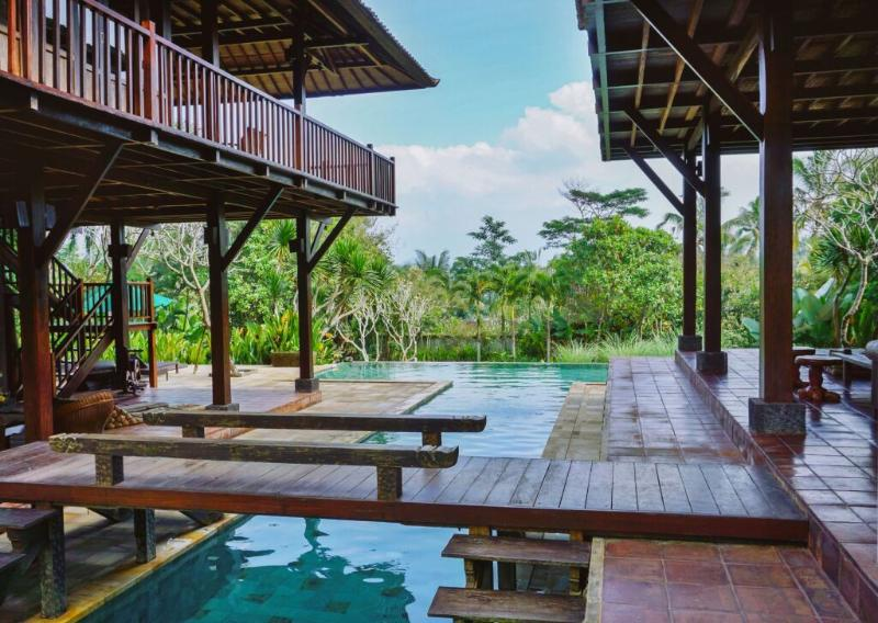 private pool, bridge at Atas Awan - Atas Awan Villa - Tegalalang - rentals