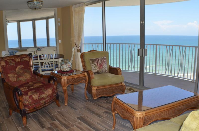 Stunning ocean views from your 17th floor condo! - Peck Plaza 17SE - 3-bedroom, Remodeled, Oceanfront - Daytona Beach - rentals
