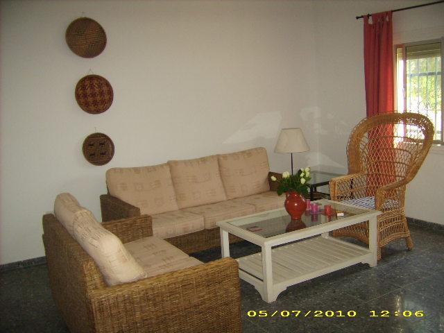 Comfortable living room - 5 minutes walk from beach spacious house for rent - Chipiona - rentals