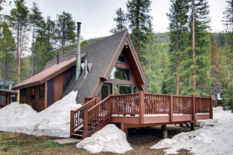 Classic A-frame cabin in tranquil setting, near skiing & hiking - dogs ok! - Image 1 - Blue River - rentals