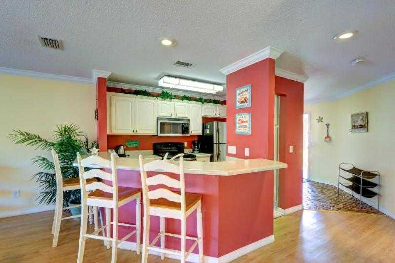 Spacious European villa w/ shared pool, across from the Grand Lagoon beach! - Image 1 - Panama City Beach - rentals