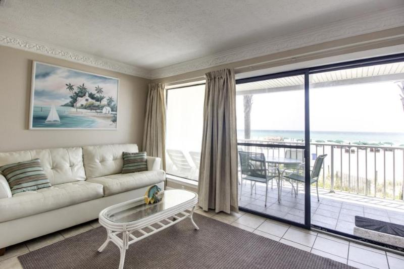 Intimate Gulf front condo for four with community pool! - Image 1 - Panama City Beach - rentals