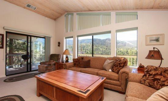 Living Room View of Slopes - Dancing Bears:  Quiet Retreat w/Breathtaking Views - City of Big Bear Lake - rentals