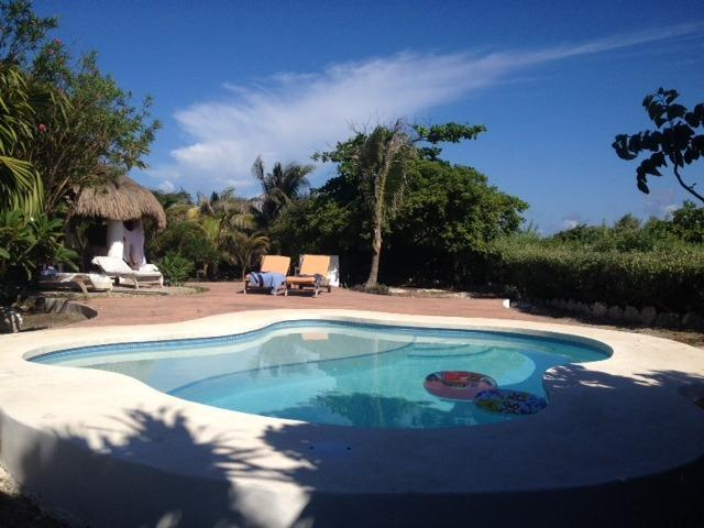 new in ground salt water  pool salt with  a shallow area for kids . - B&B room Mexican House. Panoramic Caribbean views. - Isla Mujeres - rentals