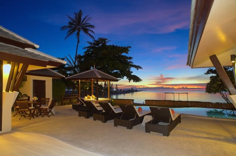 Villa 15  - Beach front (2 BR option) private pool and sunset views - Image 1 - Plai Laem - rentals