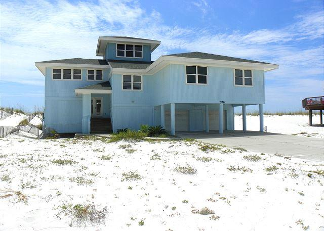 Front of the home from Ariola Drive. - Ariola 706 - Pensacola Beach - rentals