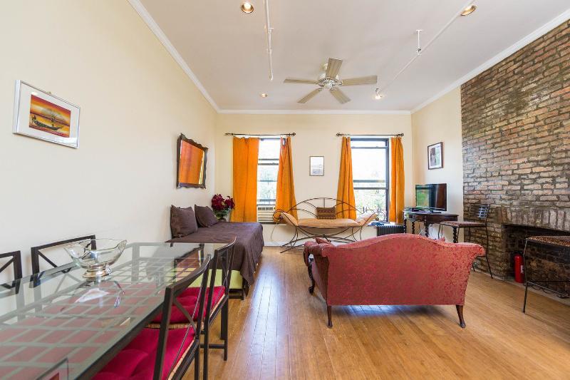 Living Room - 2-Bedroom Private Apt, Historic Harlem Brownstone - New York City - rentals
