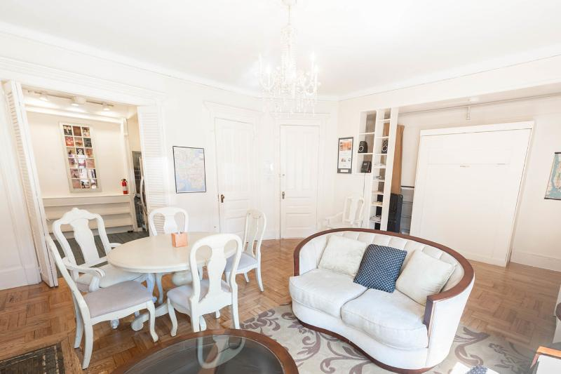 Living Room - Brownstone: quiet, sunny 1 BR, well equipped kit. - New York City - rentals